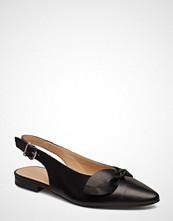 Bianco Biaberry Leather Bow Shoe Ballerinasko Ballerinaer Svart BIANCO
