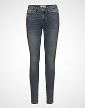 Selected Femme Slfida Mw Skinny Mid Blue Jeans W Noos Skinny Jeans Blå SELECTED FEMME