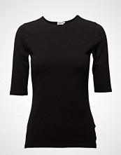 Filippa K Cotton Stretch Elbow Sleeve T-shirts & Tops Short-sleeved Svart FILIPPA K