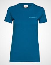 Wood Wood Eden T-Shirt T-shirts & Tops Short-sleeved Blå WOOD WOOD