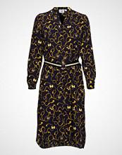 Saint Tropez Woven Shirt Dress Below Knee Knelang Kjole Svart SAINT TROPEZ