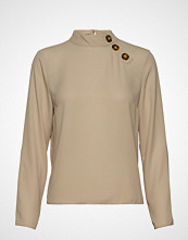 Gina Tricot Paulina Blouse Bluse Langermet Beige GINA TRICOT