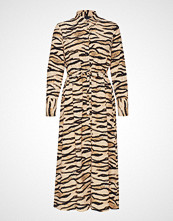 Gina Tricot Lova Shirt Dress Maxikjole Festkjole Beige GINA TRICOT
