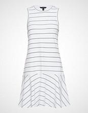 Banana Republic Sl Striped Drop Waist Dress Knelang Kjole Hvit BANANA REPUBLIC