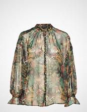Scotch & Soda Voluminous Sheer Printed Blouse With Lurex Bluse Langermet Multi/mønstret SCOTCH & SODA