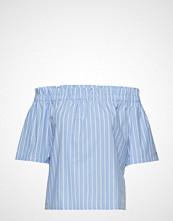 Tommy Jeans Tjw Summer Off Shoul Bluse Kortermet Blå TOMMY JEANS