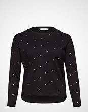 Violeta by Mango Butterfly Embroidered Sweater T-shirts & Tops Long-sleeved Svart VIOLETA BY MANGO