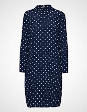 Saint Tropez Woven Dress W Dots Kort Kjole Blå SAINT TROPEZ