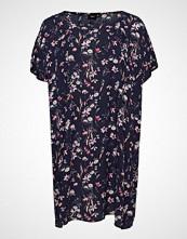 Zizzi Ehamley, S/S, Dress Kort Kjole Blå ZIZZI
