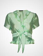 Stine Goya Ella, 576 Textured Polyester Bluse Kortermet Grønn STINE GOYA