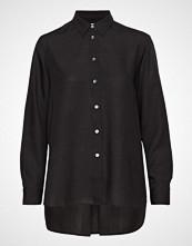 Filippa K High-Low Tencel Shirt Langermet Skjorte Svart FILIPPA K