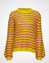 Coster Copenhagen Sweater In Mohair W. Stripes And Vo Strikket Genser Rød COSTER COPENHAGEN