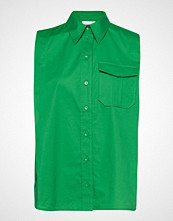 Calvin Klein Police Pkt Shirt Ns Bluse Ermeløs Grønn CALVIN KLEIN