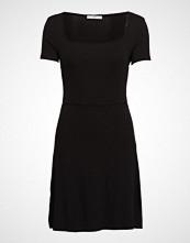 Mango Ribbed Jersey Dress Knelang Kjole Svart MANGO