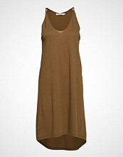 Rabens Saloner Twisted Jersey Tank Dress Knelang Kjole Brun RABENS SAL R