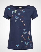 Esprit Casual T-Shirts T-shirts & Tops Short-sleeved Blå ESPRIT CASUAL
