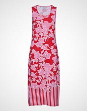 Brandtex Dress-Jersey Knelang Kjole Rød BRANDTEX