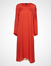 Theory Fluid Midi Dress.Lig Knelang Kjole Oransje THEORY
