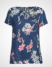Esprit Collection Blouses Woven Bluse Kortermet Blå ESPRIT COLLECTION