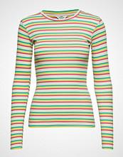 Mads Nørgaard 2x2 Soft Stripe Tuba T-shirts & Tops Long-sleeved Grønn MADS NØRGAARD