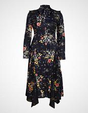 by Ti Mo Plisse Midi Dress Knelang Kjole Svart BY TI MO