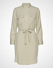 Mango Denim Style Soft Dress Knelang Kjole Beige MANGO