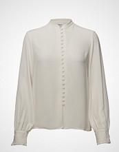 Filippa K Sheer Button Blouse Bluse Langermet Creme FILIPPA K