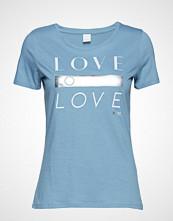 Boss Casual Wear Teslogan T-shirts & Tops Short-sleeved Blå BOSS CASUAL WEAR