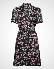 by Ti Mo Shiny Wrap Dress Knelang Kjole Svart BY TI MO