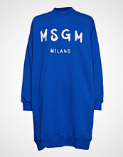 MSGM Brush Strokes Msgm Logo Dress Kort Kjole Blå MSGM