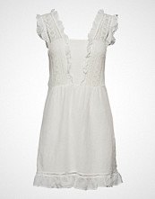 Mango Short Ruffled Dress Kort Kjole Hvit MANGO