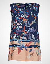 Esprit Collection Blouses Woven Bluse Ermeløs Blå ESPRIT COLLECTION