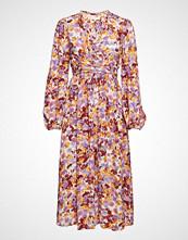 by Ti Mo Ruffle Bell Sleeve Dress Knelang Kjole Oransje BY TI MO