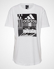 Adidas Performance W Mh Graphic T T-shirts & Tops Short-sleeved Hvit ADIDAS PERFORMANCE