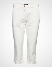 Gant O1. Chino Capri Pant Bukser Med Rette Ben Hvit GANT
