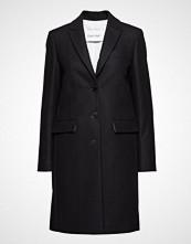 Calvin Klein Wool Crombie Coat Ullfrakk Frakk Svart CALVIN KLEIN