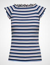 Mads Nørgaard 2x2 Soft Stripe Throna T-shirts & Tops Short-sleeved Blå MADS NØRGAARD