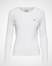 Lexington Clothing Felizia Cable Sweater Strikket Genser Hvit LEXINGTON CLOTHING