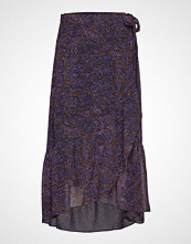 Denim Hunter Dhyola Maxi Wrap Skirt Light Woven Knelangt Skjørt Multi/mønstret DENIM HUNTER