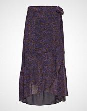 Denim Hunter Dhyola Maxi Wrap Skirt Light Woven Knelangt Skjørt Multi/mønstret DENIM HUNTER