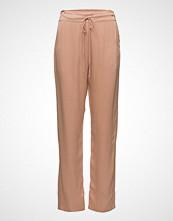 Rabens Saloner Solid Colour Pant Bukser Med Rette Ben Rosa RABENS SAL R