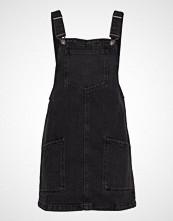 Mango Pocket Denim Pinafore Dress Kort Kjole Svart MANGO