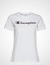 Cènnìs Crewneck T-Shirt T-shirts & Tops Short-sleeved Hvit CHAMPION