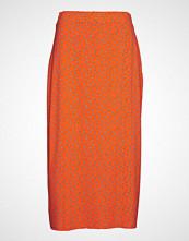 Envii Enwimbley Skirt Aop 5890 Knelangt Skjørt Oransje ENVII