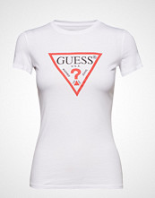 GUESS Jeans Ss Cn Basic Tee T-shirts & Tops Short-sleeved Hvit GUESS JEANS
