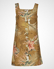 Mango Butt D Linen-Blend Dress Kort Kjole Brun MANGO