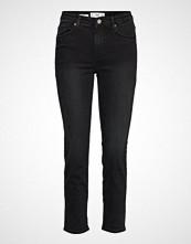 Mango Cropped Slim-Fit Grace Jeans Slim Jeans Svart MANGO