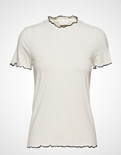 Vila Vinamia S/S Top/Tb T-shirts & Tops Short-sleeved Creme VILA
