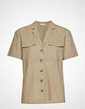 Envii Enfulham Ss Shirt 6624 Bluse Kortermet Beige ENVII