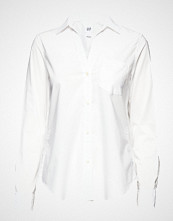 GAP Fitted Bf Shirt Langermet Skjorte Hvit GAP